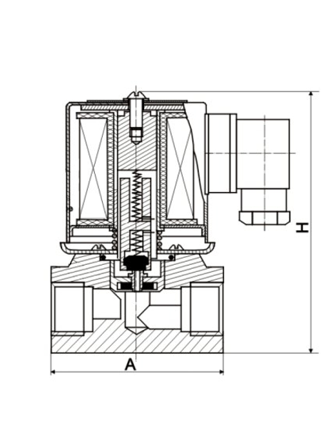 Solenoidový ventil série ZCT do 155 °C